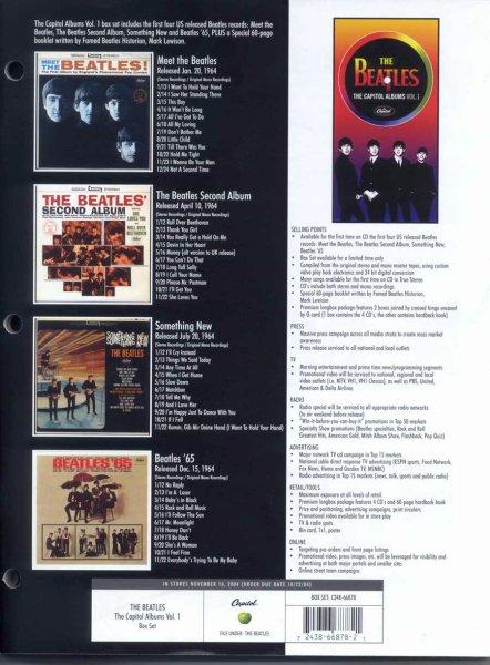 The Capitol Albums Volume 1 - задняя обложка коробки
