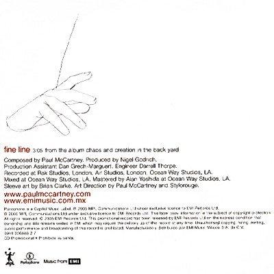 Fine Line Promo CD Single - back
