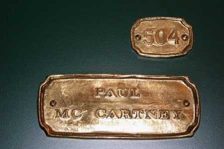 Paul McCartney plate