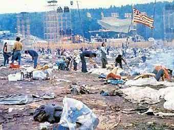 После окончания фестиваля 'Вудсток-69'. Фото с сайта woodstock69.com
