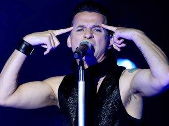 Дэвид Гаан на концерте Depeche Mode. Фото ©AFP