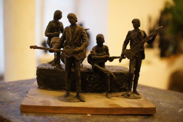 Эскиз памятника The Beatles в Самаре