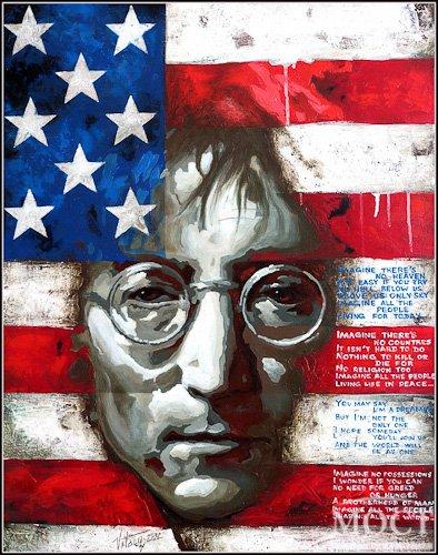 Презентация серии картин днепропетровского художника: «Джон Леннон - человек мира»