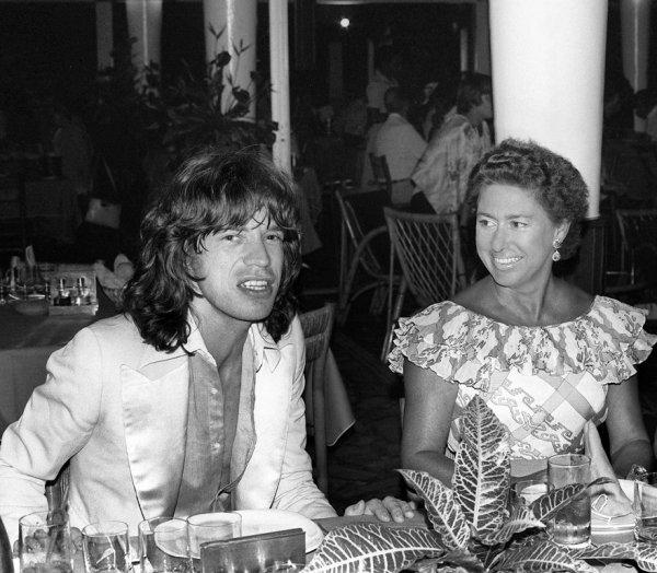 Мик Джаггер и британская принцесса Маргарет, 1976