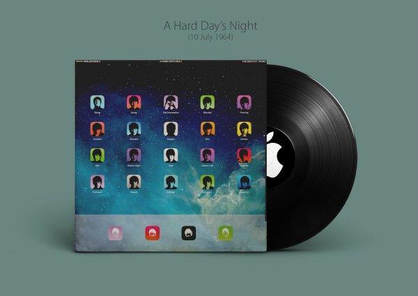 iBeatles - обложки альбомов The Beatles перерисовали в стиле Apple