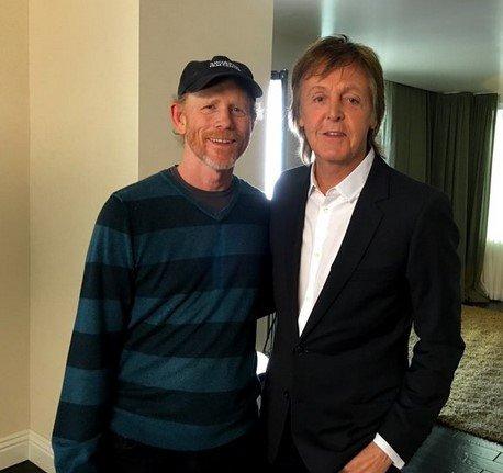 Рон Ховард и Пол Маккартни