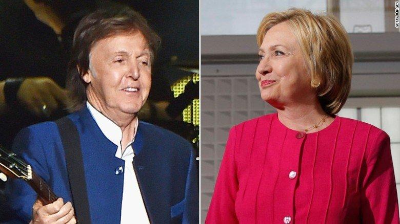 Пол Маккартни встретился с Хиллари Клинтон