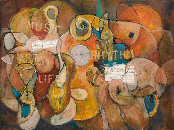 John Illsley's ART IN A CORNER painting - 'Art & Music – The Rhythm Of Life'