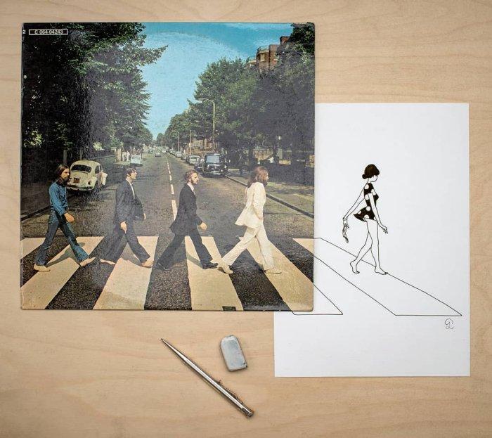 Французский эротический художник разгадал тайну обложки битловской пластинки Abbey Road