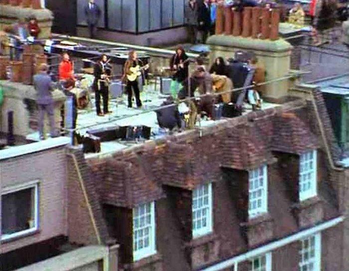 Битлз, концерт на крыше,30 января 1969 года.